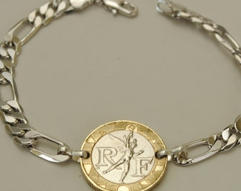 France Coin Bracelet 1990 Spirit of Freedom