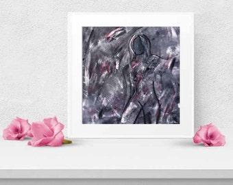 Organic Abstract Art Painting Female PRINT