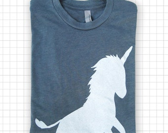Retro Unicorn Heather T-shirt