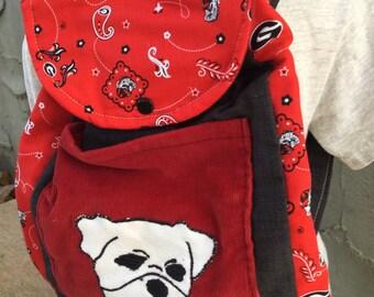 Toddler Sized Backpack -- Georgia bulldog