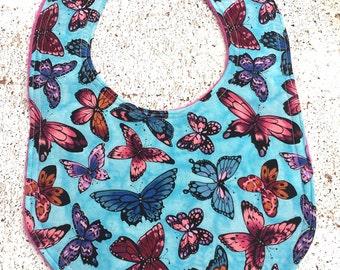 Baby Bib Butterfly baby girl