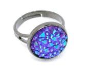 Purple Ring - Gunmetal finish