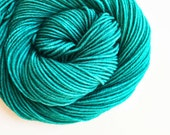 mallard / hand dyed yarn / fingering sock dk bulky yarn / super wash merino wool yarn / single or ply/ choose base / rich blue green yarn