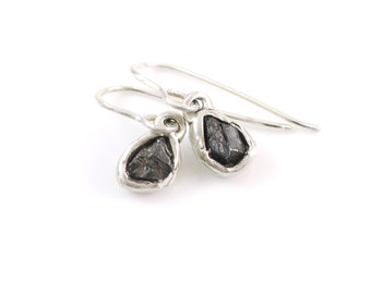 Meteorite Earrings - Size Small - Ready to Ship