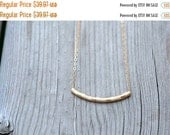 ON SALE Gold Tube Necklace Gold Necklace 14K Goldfilled Tube Textured Pendant Modern Gold Necklace Minimalist Jewelry for Her Everyday Jewel