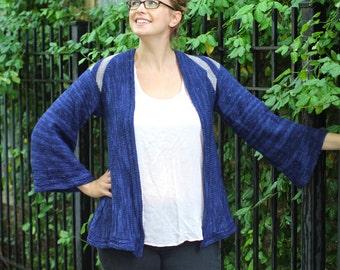 Thing to Wear Kimono Style Cardigan Knitting Pattern