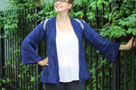 Knitting Pattern Kimono Cardigan : Thing to Wear Kimono Style Cardigan Knitting Pattern