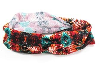 Yoga Headband - Bright Tribal Print