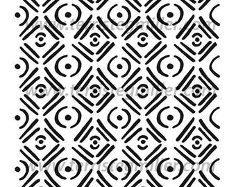 "Floor Tiles 6x6"" Stencil"
