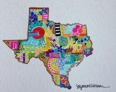 texas - 8x10 art print