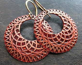 Spirograph Hoops in Russet Red