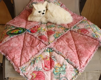 Cat Quilt, Cat Blanket With Toy, Colorado Catnip Bed, Cat Mat, Cat Accessories, Travel Cat Blanket, Crate Mat, Pink Cat Blanket, Cat Bed