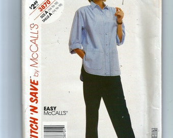 McCall's Misses' Shirt and Pants  Pattern 3870