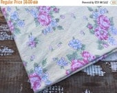 40% FLASH SALE- Rose Cottage Fabric-Shabby Chic-Reclaimed Linen Fabric-