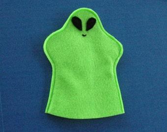 Green Alien Hand Puppet