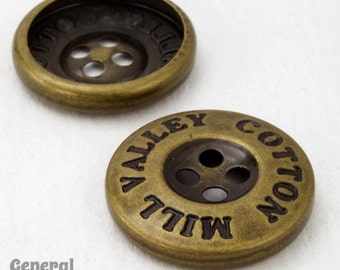 20mm Antique Brass Button (10 Pcs) #4846
