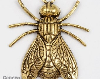 30mm Antique Brass Fly (2 Pcs) #5438