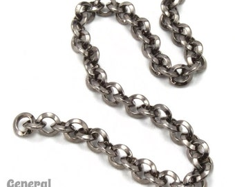 3.5mm Gunmetal Beveled Round Link Chain (10 Ft.)  #CCC203