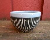 Modern porcelain BOWL cup blue black white
