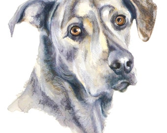 SALE - Pet Portrait - Small - Original Painting & drawing on Paper