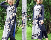 Cheongsam Vintage Asian Mandarin Collar Dress. Size Small or Medium