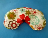 Sinus Headache Stress Relief Mask - Colorful Flowered  Fabric - Natural Remedy Relaxation