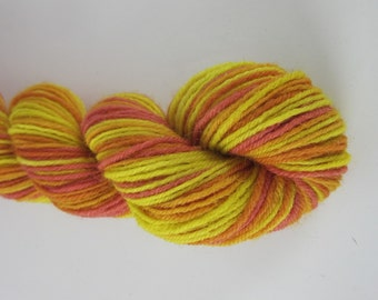 100g Sunrise Red Yellow Space Dyed Natural Dye Sock Yarn
