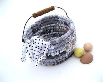 MINNIE  Textile art BASKET  TOTE  Bucket