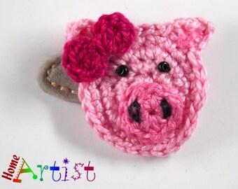 Hair clip Pig