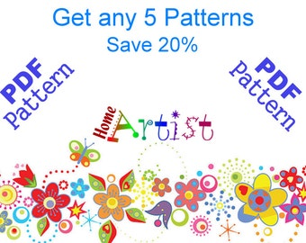 Get any 5 Homeartist Crochet Applique Patterns