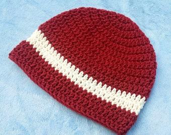 Red & Cream Unisex Hat 6-12M