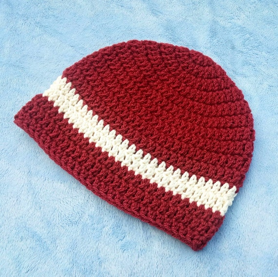 Red & Cream Unisex Hat 6-12M