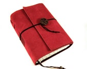 Journal, Leather, Suede, Diary, Handmade: Simply Red