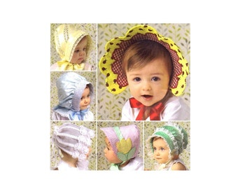 Babies and Toddlers Hats Simplicity 2908 Sewing Pattern UNCUT