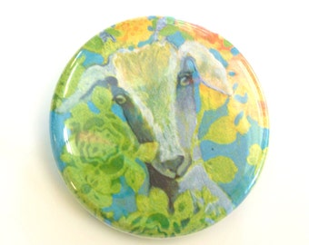 Goat Button, 1.25 in, by Jenlo