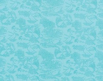 SALE - Gooseberry - Toile Waddle in Sky Blue: sku 5012-16 cotton quilting fabric by Lella Boutique for Moda Fabrics - 1 yard
