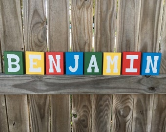 Letter blocks, Personalized Name blocks, word blocks, Alphabet block