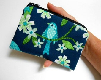 Bonita Bird Zipper Pouch Little Coin Purse ECO Friendly Padded NEW