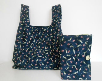 Reusable Shopping Bag and Large List Taker, Fabric Market Bag and List Taker Set