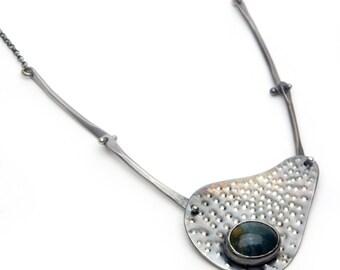 Copenhagen Sterling and Jade Necklace