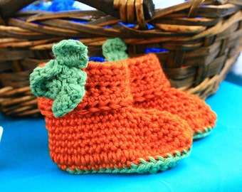 Lil Punkin Baby Booties