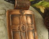Rustic Cross Spiral in Copper, Copper Cross Pendant, Cross Jewelry Necklace, Faith Jewelry