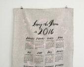 2016 Wall Calendar / Tea Towel