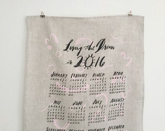 2016 Wall Calendar / Tea Towel
