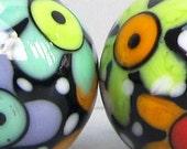 Zuma Bloom Balls--Handmade Lampwork Beads