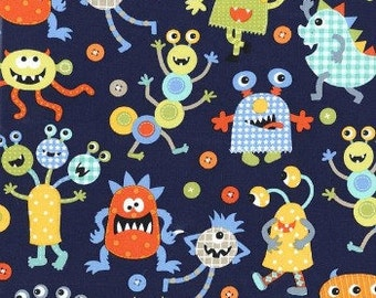 Large 14 x 16 x 4 Wet Bag / Monster Mash Fabric / Perfect for Diapers / Gym / Swim / SEALED SEAMS and Snap Strap