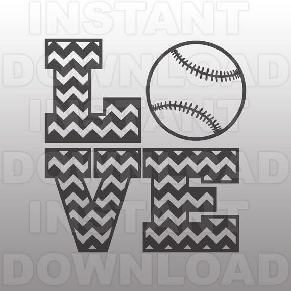 Love Baseball Svgchevron Svg Filecutting Template Vector