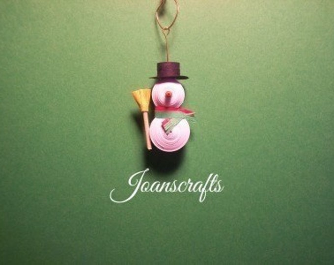 All Dressed Up Mini Quilled Snowman Ornament