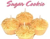 4 Sugar Cookie Cupcake Candle Minis Scented Votive Handmade
