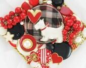 Half Off Sale Hand Mirror - Westie Love - Repurposed Jewelry - M001073